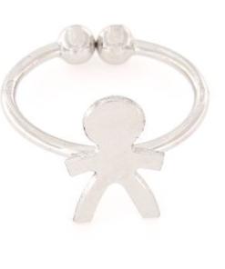 Anello in argento 925% regolabile bimbo argento bianco-0