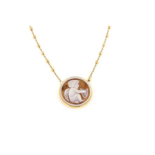 Collana in argento 925% con cammeo sardonica-0