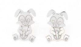 Orecchini coniglietti in argento 925%-0