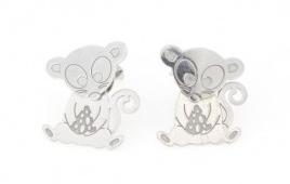 Orecchini topo in argento 925% -0