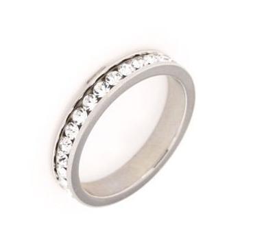Anello fedina in argento 925%-0