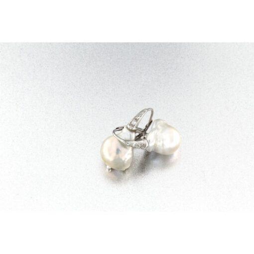 Orecchini moachina con perla barocca in argento 925% -0