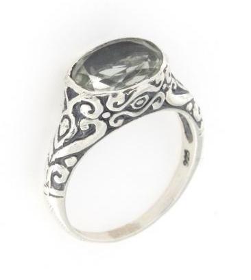 Anello ricamato in argento 925% -0