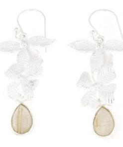 Orecchini pendenti pompeana in argento 925% opale-0