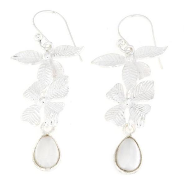 Orecchini pendenti pompeana in argento 925% perla d'acqua dolce-0