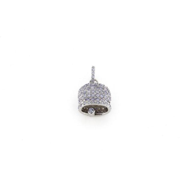 Ciondolo Campana in argento 925% lilla-0
