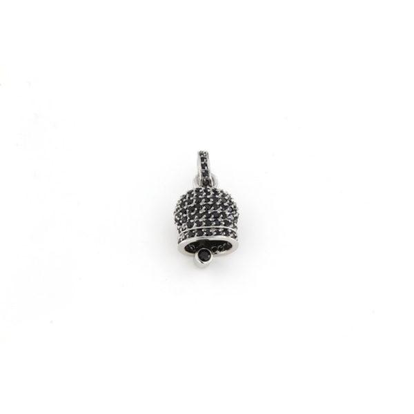Ciondolo Campana in argento 925% nero-0