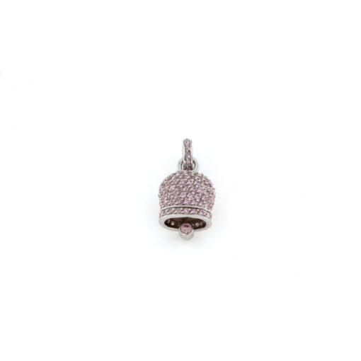 Ciondolo Campana in argento 925% rosa-0
