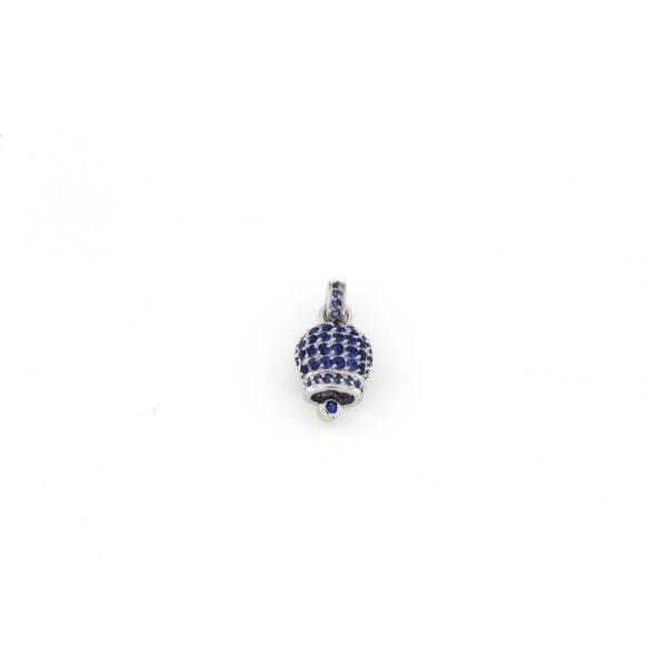 Ciondolo Campana in argento 925% blu-0