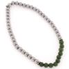 Bracciale elastico con pietre di giada e ematite in argento 925%-0