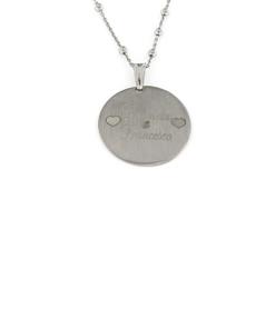 Ciondolo in argento 925% satinato con incisione personalizzata-0