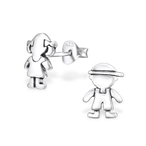 Orecchini in argento 925% bebè argento bianco-0