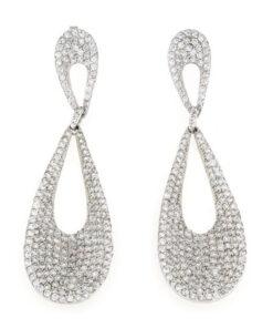 Orecchini pendenti in argento 925% incroci zirconati argento bianco-0