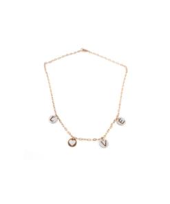Collana in argento 925% con cammeo sardonica pendenti scritta love-0