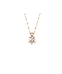 Ciondolo in argento 925 campanella traforata bicolore e cammeo sardonica -0