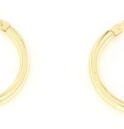 Orecchini cerchietto in argento 925 cerchietto liscio argento dorato-0