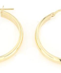 Orecchini in argento 925 cerchio largo argento dorato-0