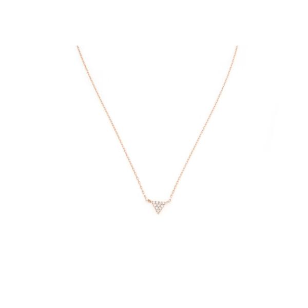 Collana in argento 925 con triangolino di zirconi -0