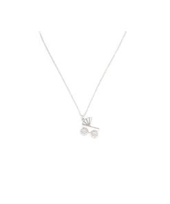 Collana in argento 925 con pendente carrozzina -0