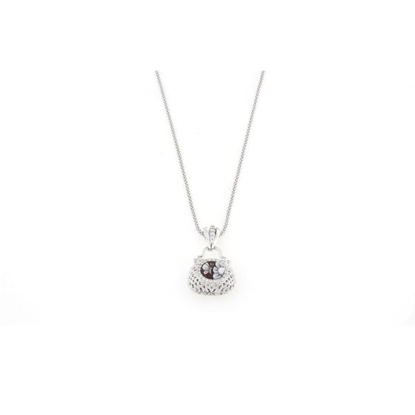 Ciondolo in argento 925 con cammeo sardonica e zirconi-0