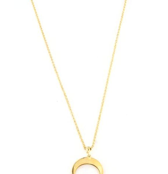 Collana in argento 925 luna pendente -0