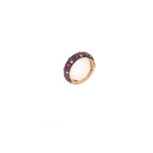 Anello regolabile in argento 925 con zirconi viola -0