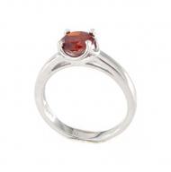 Anello in argento 925 rubino -0