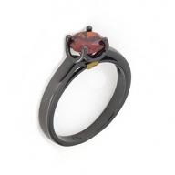 Anello in argento 925 con zircone rosso rubino -0