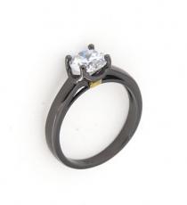 Anello in argento 925 con zircone bianco-0