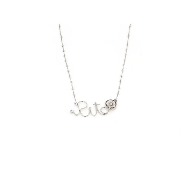 Collana in argento 925 con nome personalizzato e cammeo -0