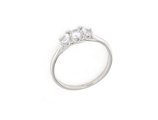 Anello in argento 925 trilogy fascia liscia-0