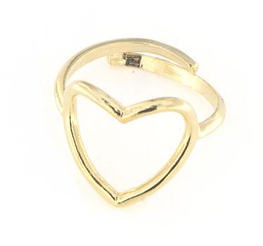 Anello in argento 925 regolabile cuore bucato-0
