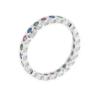 Anello in argento 925 fedina zirconcini colorati-0