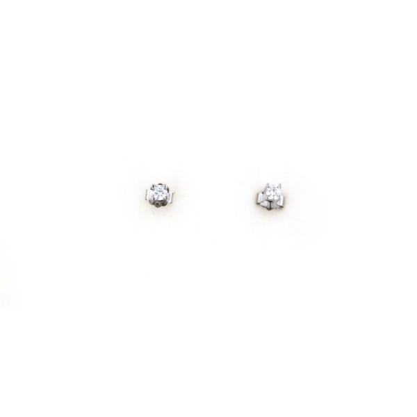 Orecchini in argento 925 zirconcini incastonati argento bianco-0
