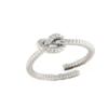 Anello nodo intrecciato in argento 925% -0