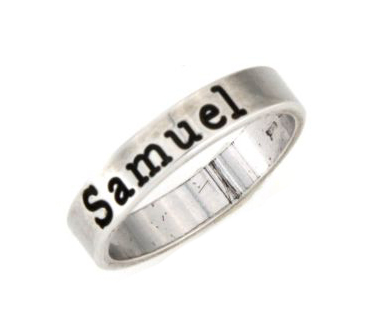 Anello in argento 925 bianco personalizzabile-0