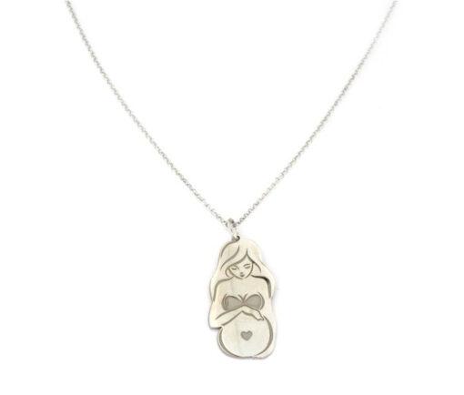 Collana maternità in argento 925 bianco-0