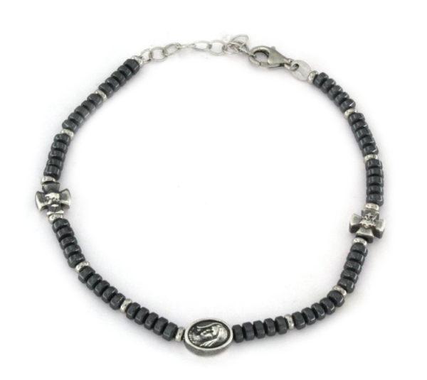 Bracciale rosario in argento 925 bianco-0
