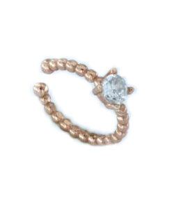 Orecchino mono ear cuff in argento 925 rosato -0
