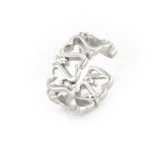 Orecchino ear cuff in argento 925 bianco-0
