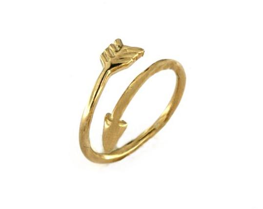 Anello freccia in argento 925 dorato-0