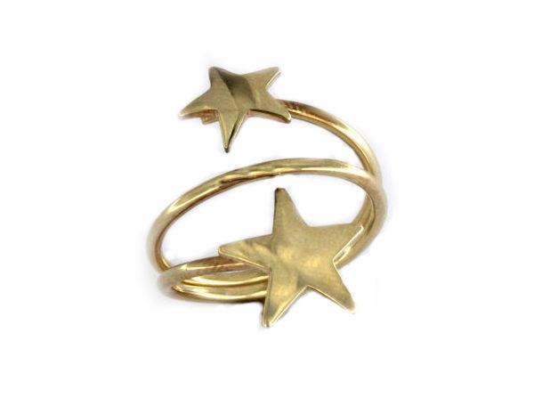 Anello con stelle in argento 925 dorato-0