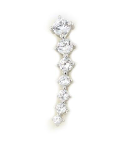 Orecchino ear cuff in argento 925 bianco -2767