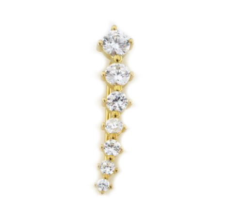 Orecchino ear cuff in argento 925 dorato -0