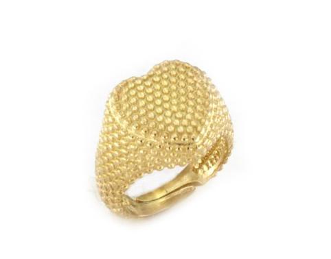 Anello da mignolo cuore in argento 925% dorato-0